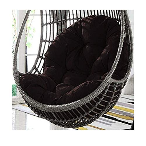 """N-P Papasan Chairs Cushion (Only Cushion),Outdoor/Indoor Swing Hanging Egg Chair Sitter Cushions Pads,Overstuffed Oversize Big cmfty Wicker Chair Cushion 47.2""""X31"""" (Black)"""