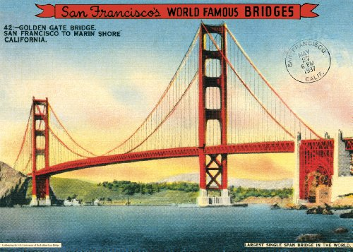 Cavallini Papers & Co – Papel de regalo, diseño de puente Golden Gate
