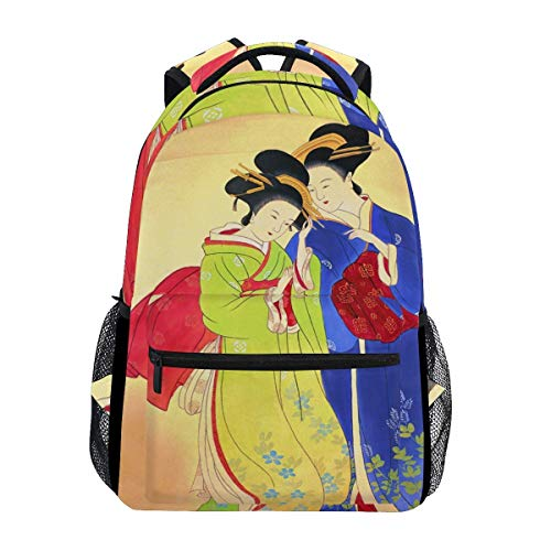 poiuytrew Kimono Mujer Mochila Estudiantes Bolsas de Hombro Bolsa de Viaje Mochilas Escolares para...