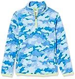 Amazon Essentials Chaquetas de Forro Polar con Cremallera Parcial Fleece-Outerwear-Jackets, Camuflaje Cobalto, 3 años