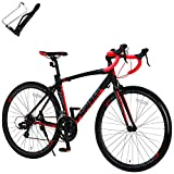 カノーバー ロードバイク 自転車 ボトルケージセット 14段変速 アルミフレーム CAR-012 ADONIS ブラック 29421 700C