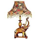 ZYYWAD Nachttischlampe Schlafzimmer Wohnzimmer Retro-Studie Tischlampe Elefant Dekoration Tischlampe