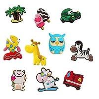 冷蔵庫用マグネット 10ピース/ロット3D漫画車冷蔵庫のための子供のための磁石家のための冷蔵庫のための磁石のための子供たちのおもちゃ男の子の贈り物 (Color : 10pcs mix)