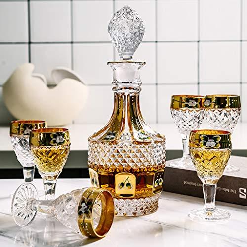 YWSZJ Copas de Vino de Cristal Set Moderno Whisky Wine Decanter Vino Copa de Vino Dispensador Tequila Vino Bar Herramientas