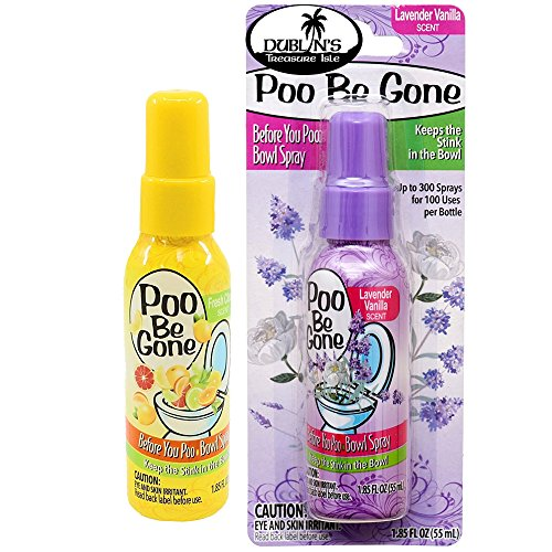 Poo Be Gone Toilet Spray 1.85oz - Before You Go Toilet Bathroom Deodorizer 2 pack (Lavender & Citrus)