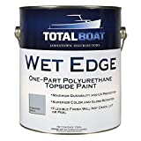 TotalBoat-365410 Wet Edge Marine Topside Paint for Boats, Fiberglass, and Wood (Kingston Gray, Gallon)
