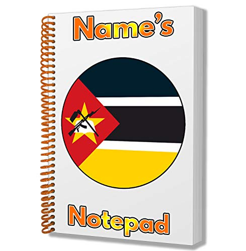 Gepersonaliseerd geschenk - Mozambique Vlag A5 Kladblok/notitieboekje - Cadeau - Verjaardag - Kerstmis - Voorraadvulling - Geheime Kerstman - ADD Elke naam
