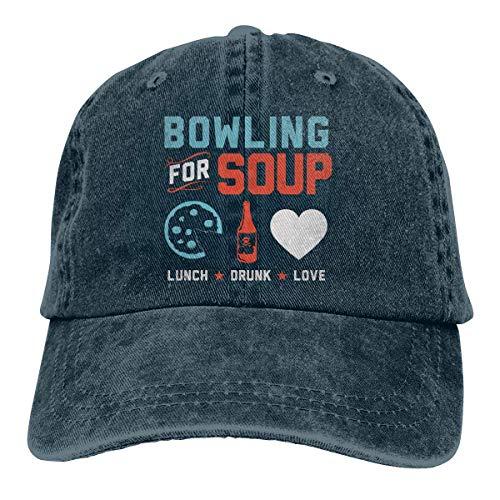 sdgsda Bowling for Soup Adult Adjustable Printing Cowboy Baseball Kappe