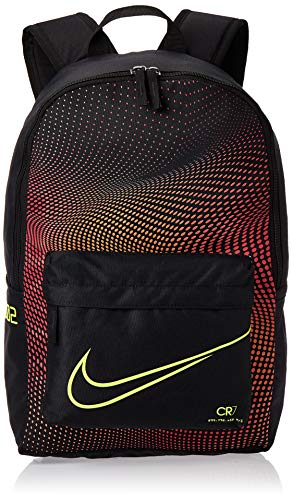 Nike Kids' Y NK M SERIES BKPK Sports Backpack, Black/Total Orange/(Lemon Venom), MISC