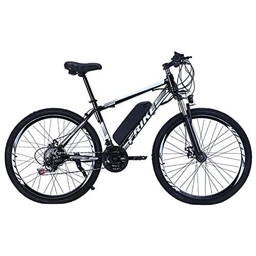 "Bedroom Elektrisches Mountainbike 27.5\""250w Elektrisches Fahrrad Mit 36v 10ah Abnehmbare Lithiumbatterie, 21-Gang-Getriebe, 35 Km/H, Laden Kilometer Bis 35-50km(Color:Weiß)"