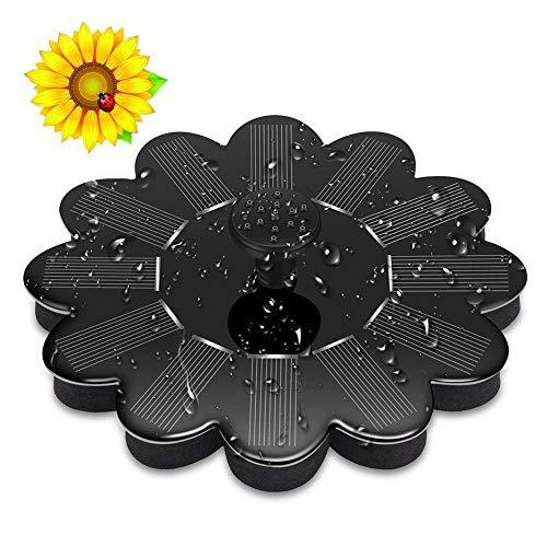 A-ZITCH Bomba de Agua Solar Panel Flotante Piscina Sun Flor en Forma...