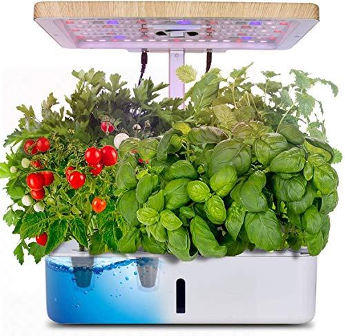 OneV FT Hydroponics Growing System,23 W LED-Pflanzenfülllicht und 3 W Kleiner Wasserpumpe, Smart Garden Anzuchtsystem und Indoor Herb Garden Starter Kit.