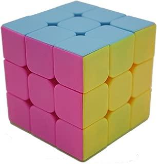 Bigood 3*3 Plastic Stickless Rubiks Cube Speed Cube