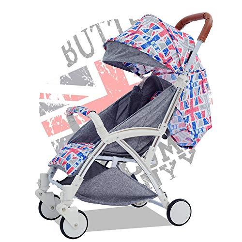Mele InNovativa Estensione Pull Rod Baby Passeggino Sedile reclinabile Leggero Passeggino Pieghevole per Bambini Rilassatevi e prendete,Gray