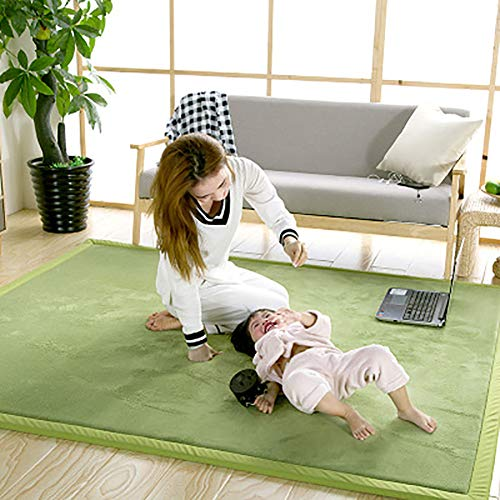 %23 OFF! Green Coral Velvet Play Crawling Mat Not-Slip,Area Rugs for Nursery Baby Toddler Children K...