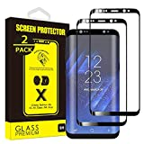 [2-Pack] Yoyamo Gl09 Tempered Glass Screen Protector for Samsung Galaxy S8 Plus, Full Screen Coverage, Black