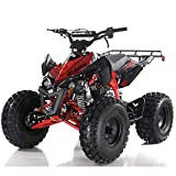 125cc ATV Quad Youth 4 Wheeler Adults ATVs Quads Middle Size 4 Wheelers ,Red