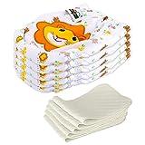 5 Stück Wiederverwendbare Waschbare Verstellbar Babywindeln Baby Windelhose Baby-Tuch-Windel Weicher