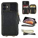 ZVE iPhone 11 対応ケース 6.1インチ ウォレットケース財布付きケース 背面カード収納 カード……