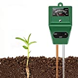 SubClap Soil Test Kit 3-in-1 Moisture Sunlight pH Soil Tester Meter, Soil Sensor Tool Tester Water Light pH for Plants/Vegetables/Garden/Lawn/Farm (No Battery Needed)