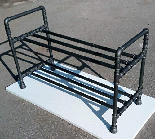 Industrielle Schuhregal Rohr Klempnerarbeit Schuh Organisator Schuh Stand Flur Eingangsbereich Vintage (Länge 40-150 cm)