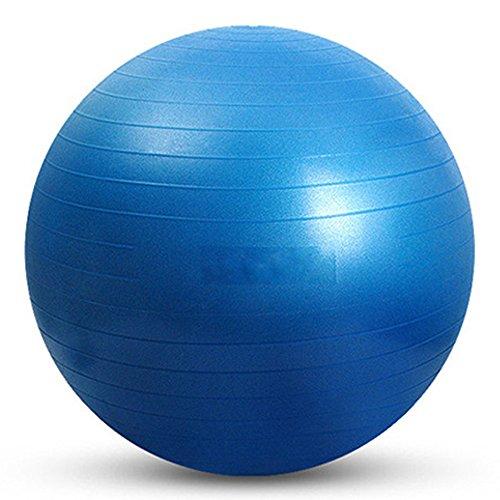 YUUWA バランスボール ヨガボール 45cm/55cm/65cm/75cmアンチバースト仕様ポンプ付き! ダイエット エクササイズ 全4カラー (ブルー, 45)