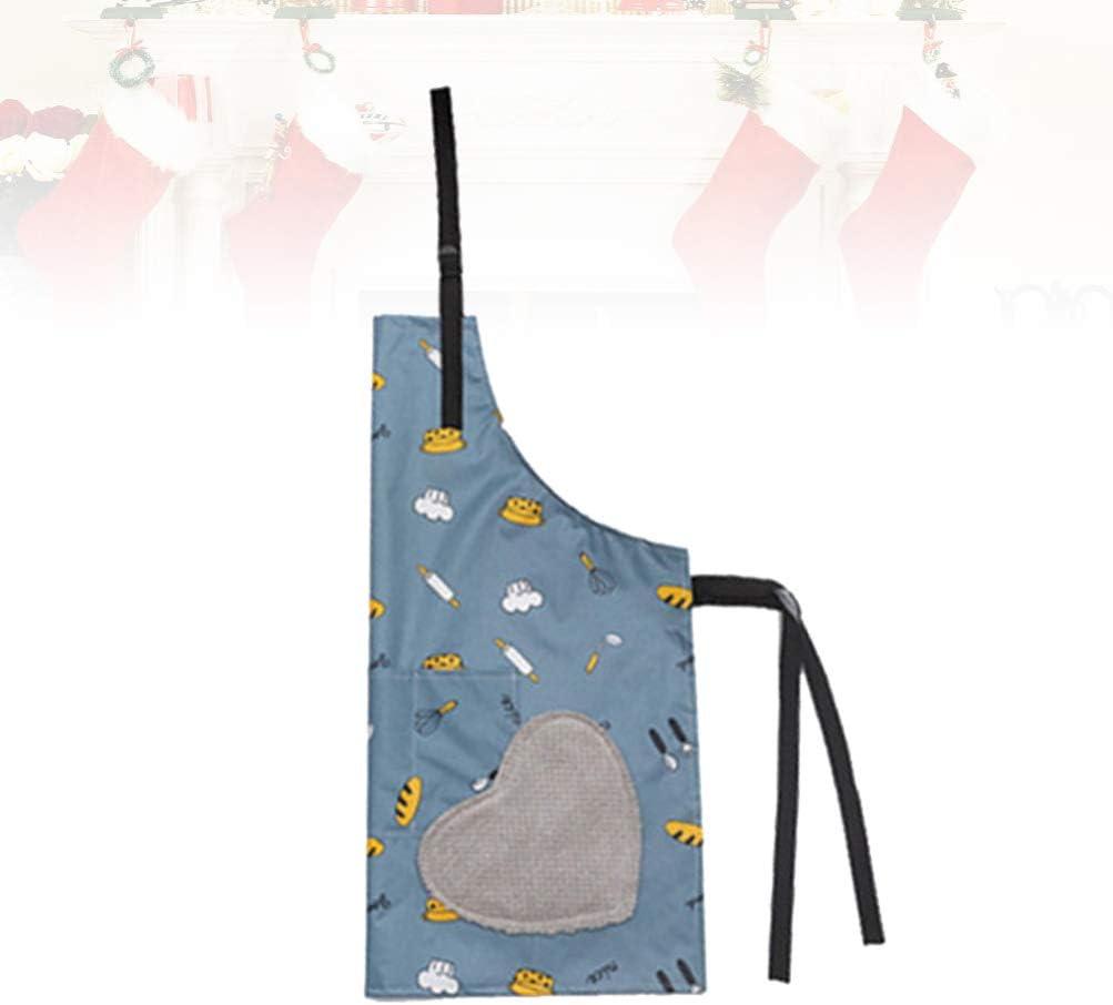 patr/ón de vajilla Azul UPKOCH Delantal Impermeable de PVC para cocinar para Hombres y Mujeres