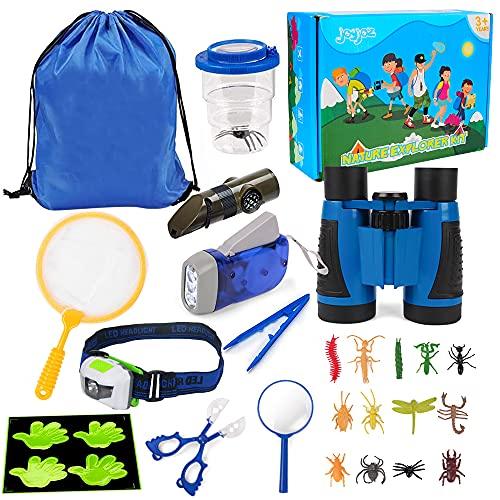 SPECOOL Outdoor Explorer Kit Juego de binoculares para niños, 23 Piezas, Accesorios para Explorador, Juego de atrapasueños, Juguetes educativos, Regalos para niños y niñas de 3 a 10 años