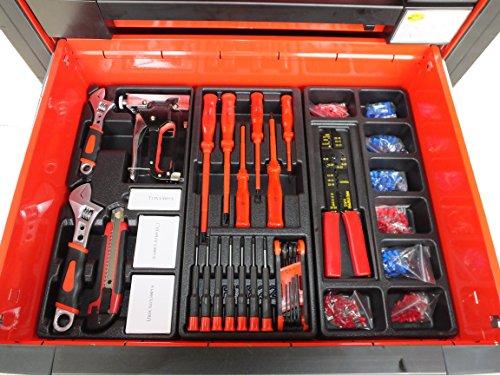 Bensontools Werkstattwagen 542 teilig Werkzeugwagen gefüllt Werkzeug 7 Kugelgelagerte Laden, 1 Stück, XL, 6333 - 9