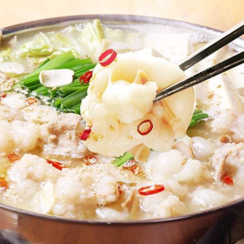 博多若杉 厚切り小腸 もつ鍋セット 国産 牛もつ鍋 お取り寄せ もつ鍋 塩とんこつ味 (2~3人前)
