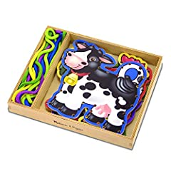 FARM ANIMAL LACING ACTIVITY: The Melissa & Doug Lace & Trace Farm contains five sturdy, double-sided lacing panels—featuring a cow, sheep, chicken, pig, and horse—plus five color-coordinated laces. HELPS DEVELOP MULTIPLE SKILLS: Kids will learn the i...