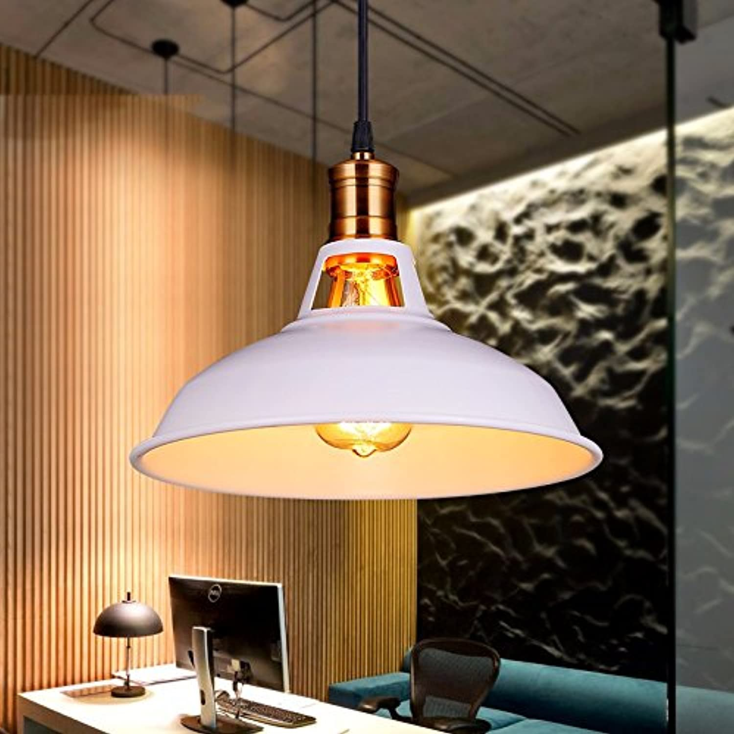 LighSCH Pendelleuchten Kronleuchter Das Restaurant Bar Lampe Industrial Air Single Wandmodell Deckel Loft Retro 28cm Gravur