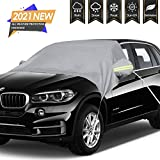 ISFC Automotive Windshield Sun Shade Cover - Windproof Extra Large Waterproof Car Windshield Snow Cover with Elastic Straps&Hook Fixed Windproof Design&Side Mirror Covers for Most Vehicles