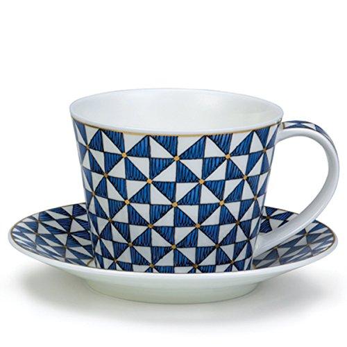 DUNOON Tasse & Untertasse Samarkant Blue - 0,35l