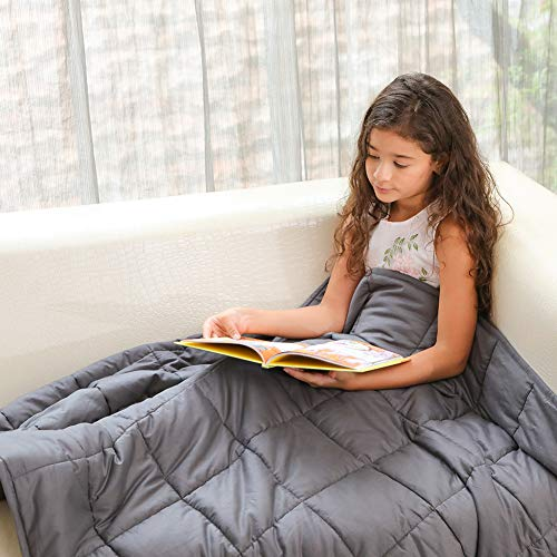 Fabula Life Kids Weighted Blanket(5lbs, 48'x36') for Kids Weigh Around 40lbs| Weighted Blanket for Kids | Kids' Quilts|Cotton Heavy Cozy Blanket| Premium Glass Beads| Calm Deep Sleep
