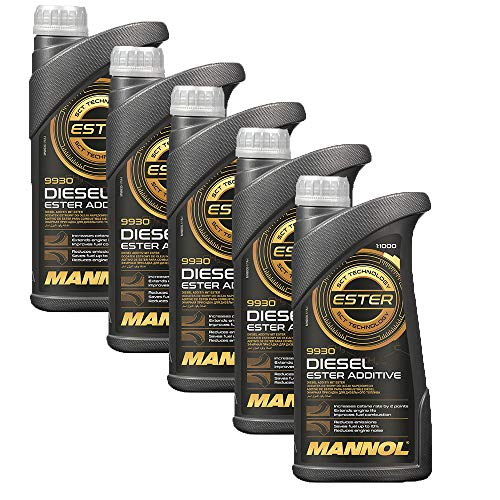 MANNOL 5 x 1 Liter, 9930 Diesel Ester ADDITIV Kraftstoff ADDITIVE