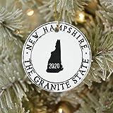 New Hampshire Ornament 3' Ceramic Christmas Ornament Xmas Tree Decor Two-Sides Printed