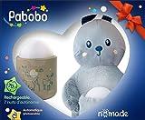 Pabobo – Peluche Lapin + Veilleuse Nomade – Coffret Cadeau – LED à Lumière...