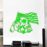 zqyjhkou Flagge Schädel Krieg der Sterne Wandaufkleber Für Wohnzimmer Abzeichen Armee Tod Vinyl Aufkleber Windows Wallpaper Art Decor Poster Wandbilder 3 42X67 cm
