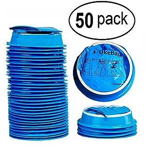 50 Pack Emesis Bag, Disposable Vomit Bags, Aircraft & Car Sickness Bag, Nausea Bags for Travel Motion Sickness