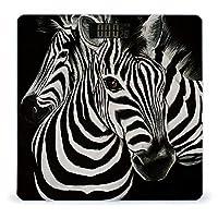 ゼブラストライプ黒と白 LCDディスプレイ付き高精度スマートフィットネススケール体重デジタルバスルームボディスケール