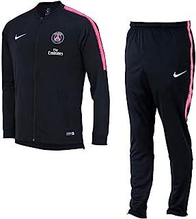 10aebd221cdf4 Nike PSG et NK Dry SQD TRK Suit K survêtement, Unisexe Enfant Multicolore  (Black