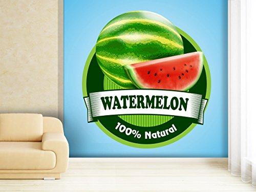 XXL-behang fotobehang watermeloen stickers in verschillende maten - naar keuze als papier of vliesbehang 280x270cm