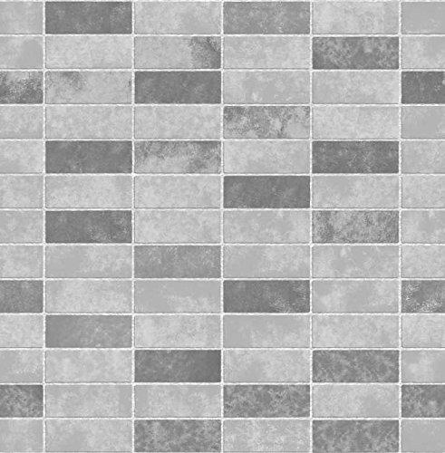 BHF FD40117 Ceramica Stone Tile - Carta da parati per cucina e bagno, effetto: piastrelle di ceramica