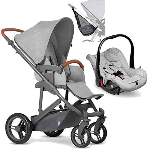 Merano Woven Grey (Com Shopping Bag + Bebê Conforto + Adaptador), Abc Design, Woven Grey