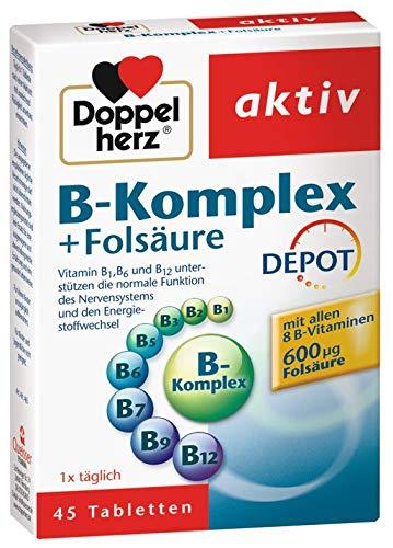 Doppelherz B-Komplex + Folsaeure Depot, 2er Pack (2 x 45 Tabletten)