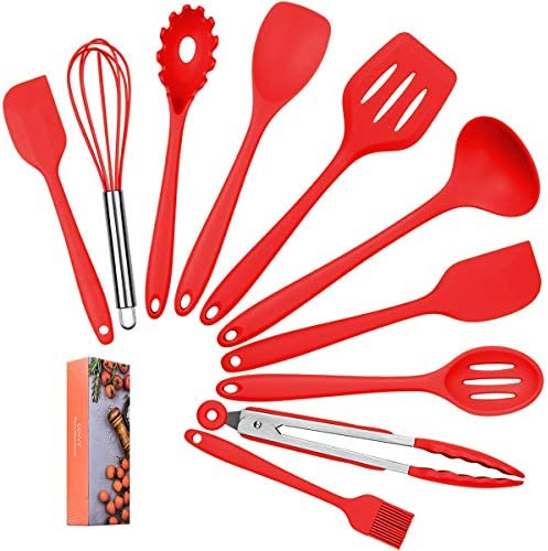 LYCHEE LIMITED Lysport 10 stuks siliconen keukenhulpen set keuken bakken set hittebestendigheid tot 230 C voor elke keuken