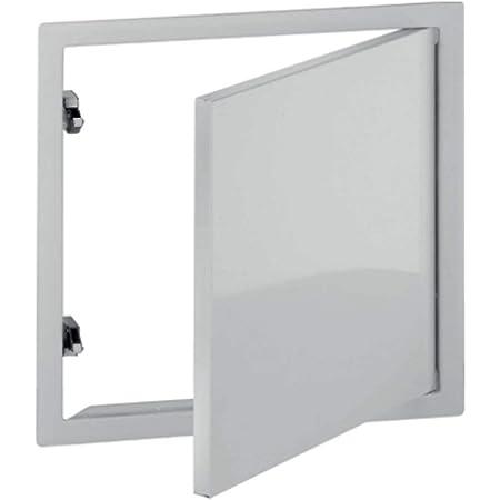 150x150 mm Trappe Dinspection En Acier Galvanis/é Blanc Avec Serrure