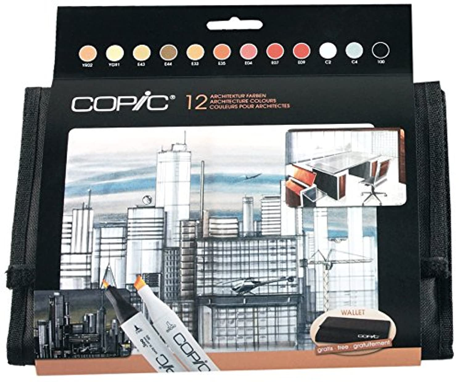Copic Marker Cm12tar Colours Architecture Drawing Pack Of 12?markers