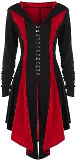 Women Vintage Jacket Irregular Back Bandage Steampunk Gothic Coat Pullover/Hooded Oversized Overcoat
